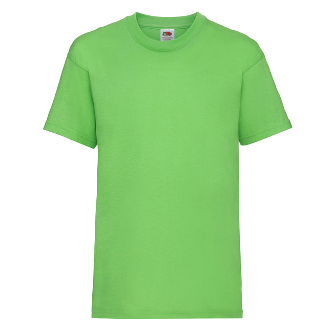 Limette - Front - Fruit of the Loom Kinder Unisex T-Shirt, kurzärmlig (2 Stück-Packung)