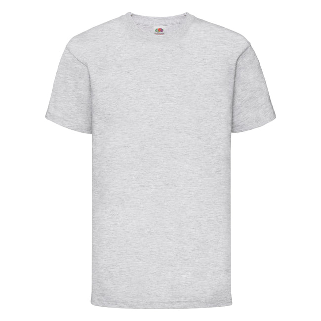 Grau meliert - Front - Fruit of the Loom Kinder Unisex T-Shirt, kurzärmlig (2 Stück-Packung)