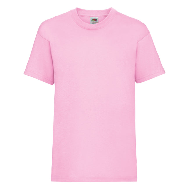 Rosa - Front - Fruit of the Loom Kinder Unisex T-Shirt, kurzärmlig (2 Stück-Packung)