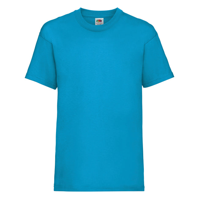 Azurblau - Front - Fruit of the Loom Kinder Unisex T-Shirt, kurzärmlig (2 Stück-Packung)