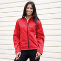 Rot - Side - Result Core Damen Softshell-Jacke