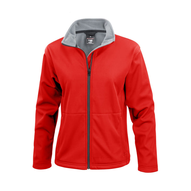 Rot - Front - Result Core Damen Softshell-Jacke