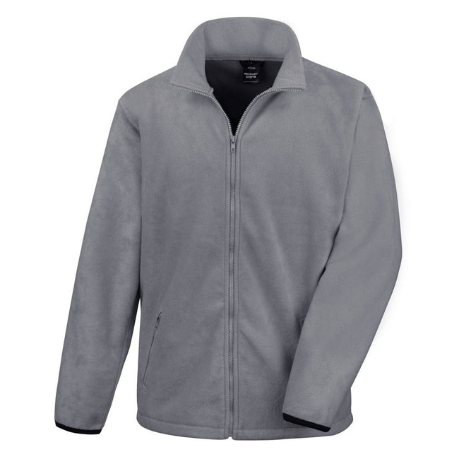 Grau - Front - Result Core Herren Fleece-Jacke