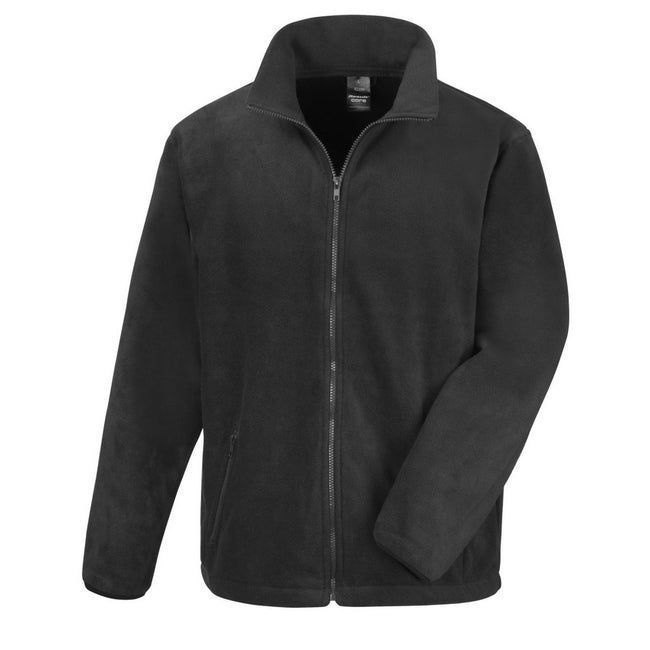 Schwarz - Front - Result Core Herren Fleece-Jacke