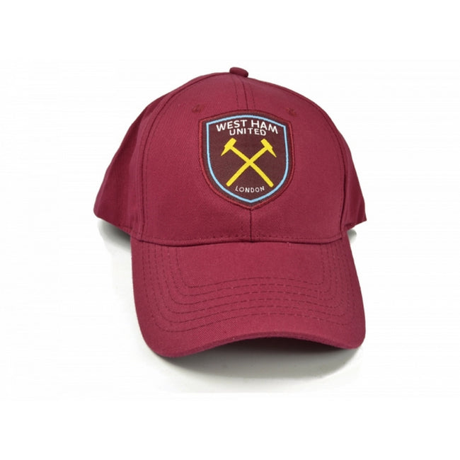 Burgunder - Front - West Ham FC Official Football Baseball Kappe