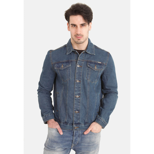 Stonewash - Side - Duke Herren Kingsize Western Trucker Style Denim Jacke