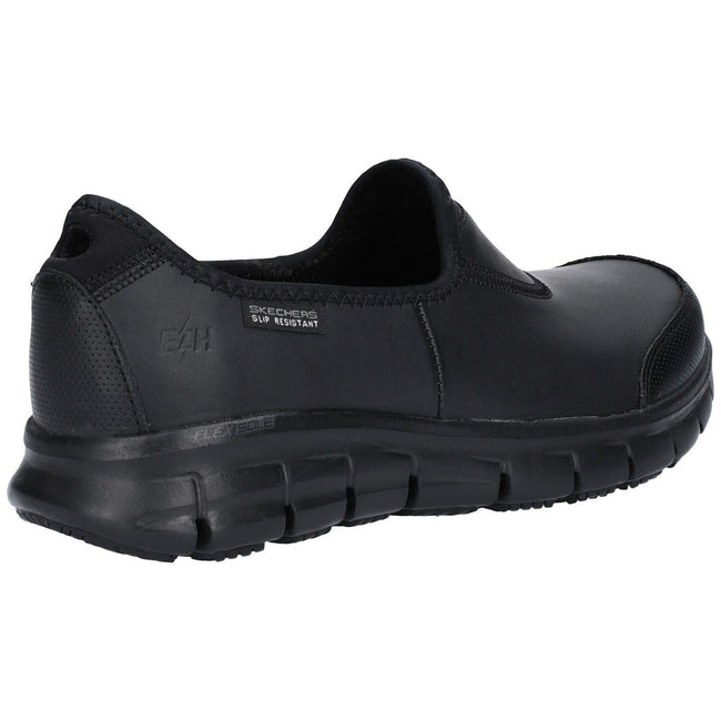 Schwarz - Side - Skechers Occupational Damen Sure Track Slip On Work Schuhe