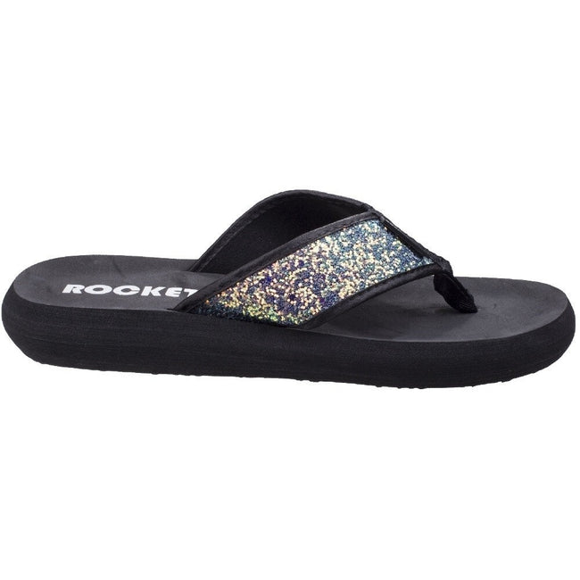 Ölschwarz - Front - Rocket Dog Damen Spotlight Solar Power Slip On Sandale