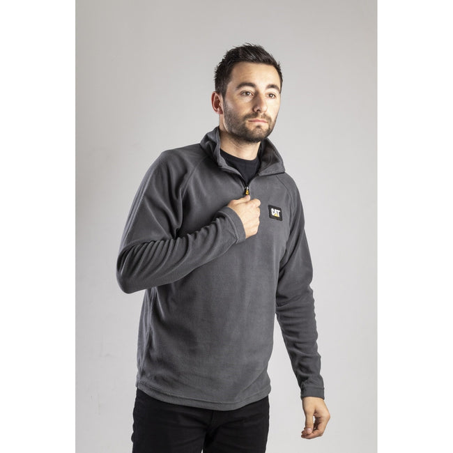 Grau - Back - CAT Lifestyle Herren Concord Fleece Pullover