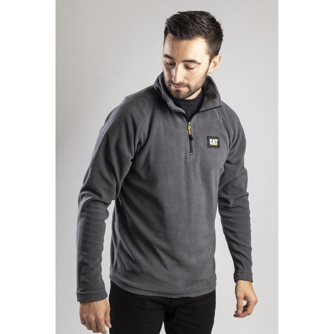 Grau - Side - CAT Lifestyle Herren Concord Fleece Pullover
