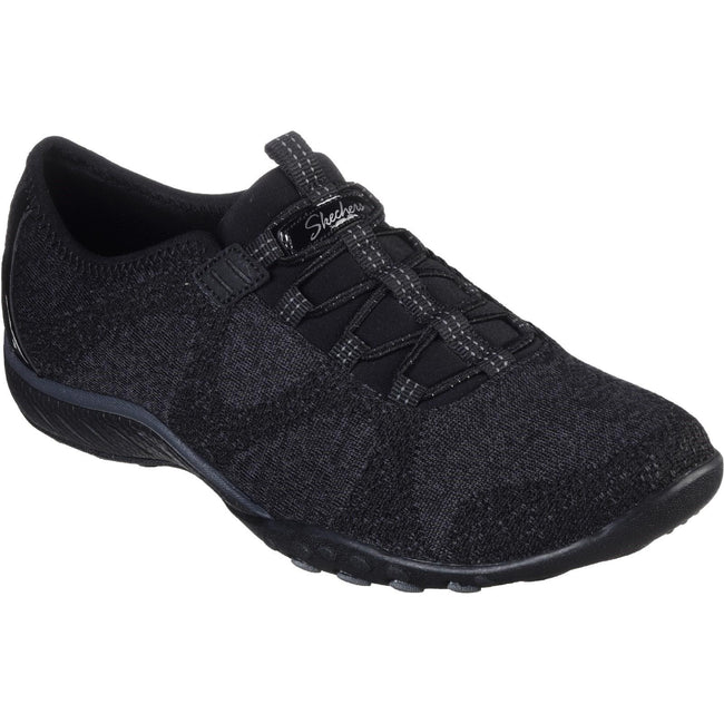 Schwarz - Front - Skechers Damen Breathe Easy Opportuknity Turnschuh