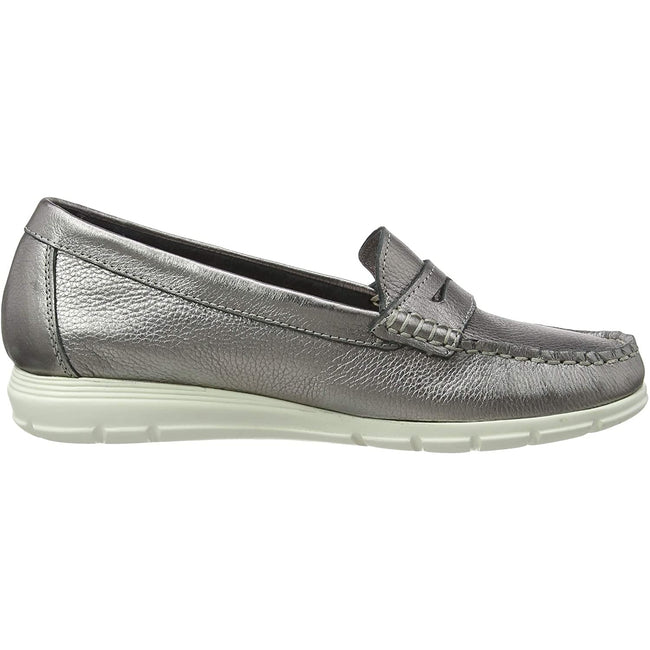 Silber - Back - Hush Puppies Damen Paige Leder Loafer