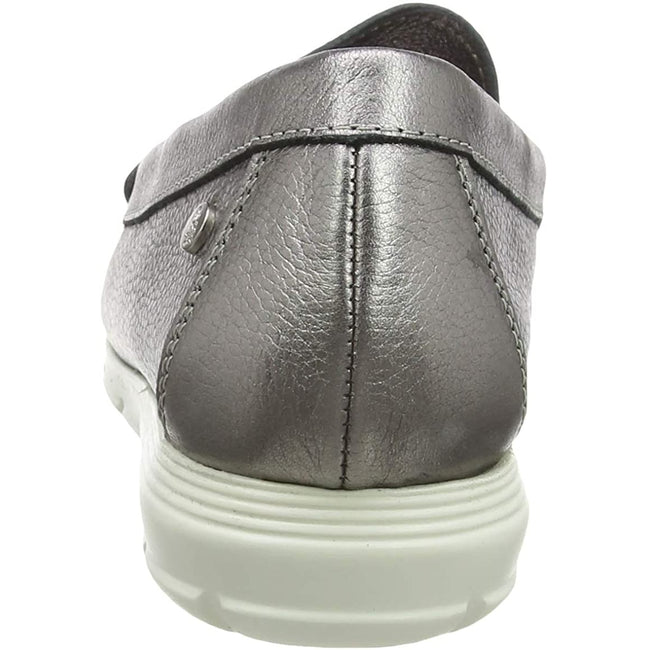 Silber - Side - Hush Puppies Damen Paige Leder Loafer