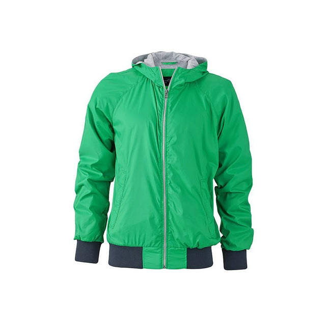 Grün-Marineblau - Front - James and Nicholson Herren Sportjacke