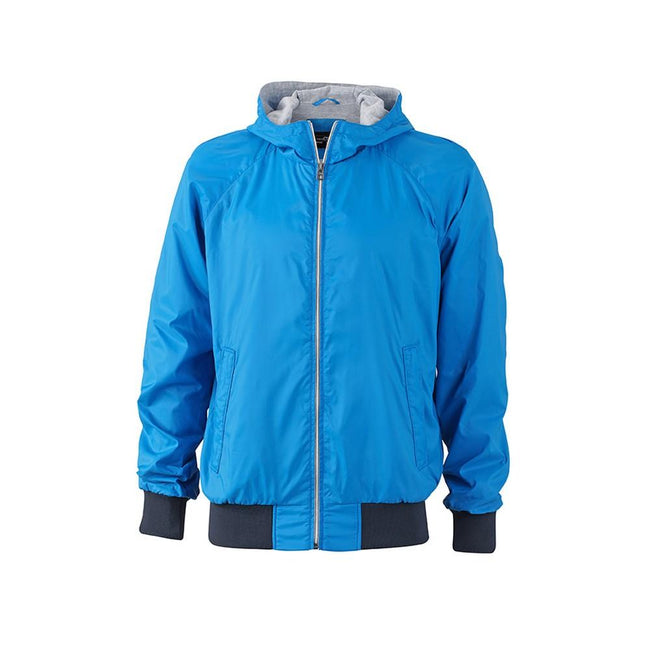 Kobaltblau-Marineblau - Front - James and Nicholson Herren Sportjacke