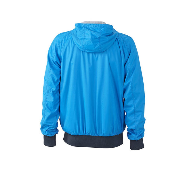 Kobaltblau-Marineblau - Back - James and Nicholson Herren Sportjacke