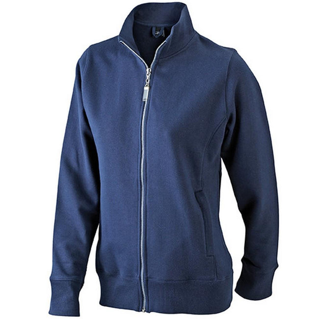 Marineblau - Front - James and Nicholson Damen Jacke