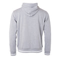 Grau meliert-Weiß - Back - James and Nicholson Herren Club-Pullover
