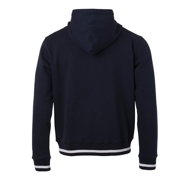 Marineblau-Weiß - Back - James and Nicholson Herren Club-Pullover