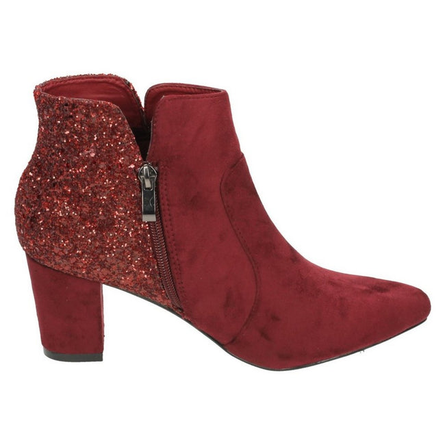 Burgunder - Back - Anne Michelle Damen Ankle Boots