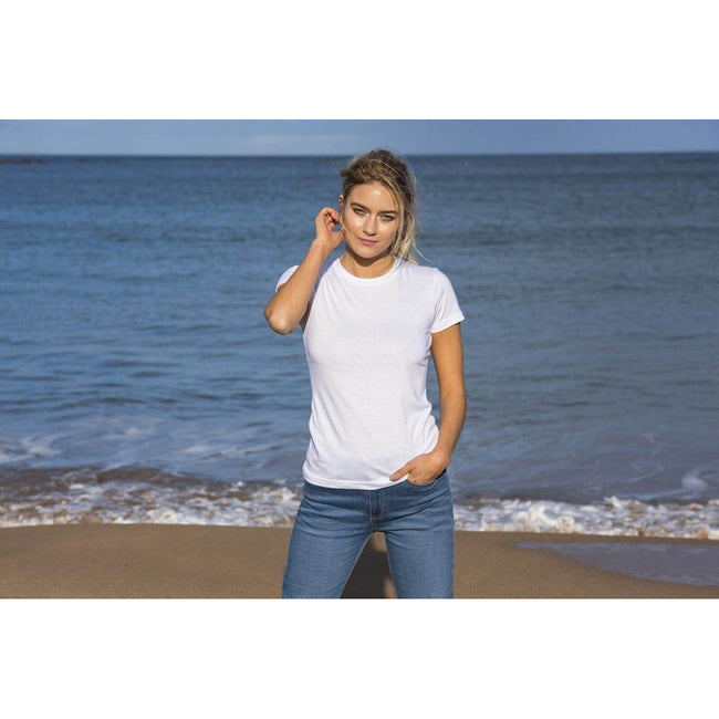 Weiß - Back - AWDis Damen Tri-Blend T-Shirt Girlie