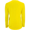 Neongelb - Back - SOLS Damen Performance T-Shirt Sporty, langärmlig