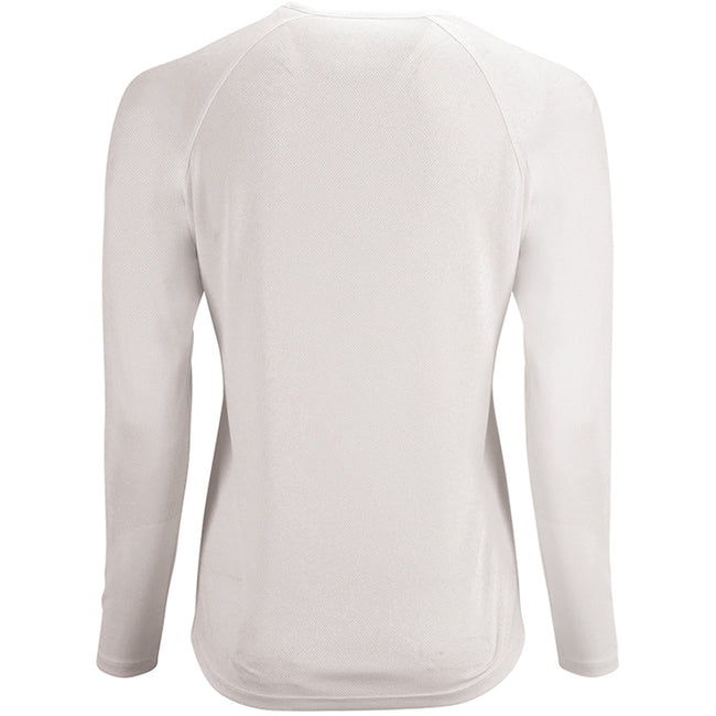 Weiß - Back - SOLS Damen Performance T-Shirt Sporty, langärmlig
