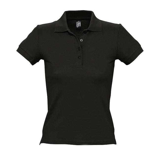 Khaki - Front - SOLS People Damen Polo-Shirt, Kurzarm