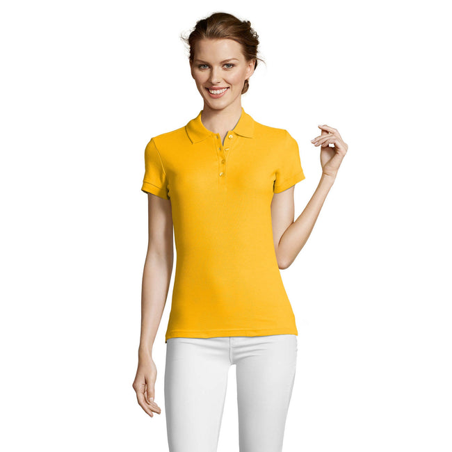 Atollblau - Back - SOLS People Damen Polo-Shirt, Kurzarm
