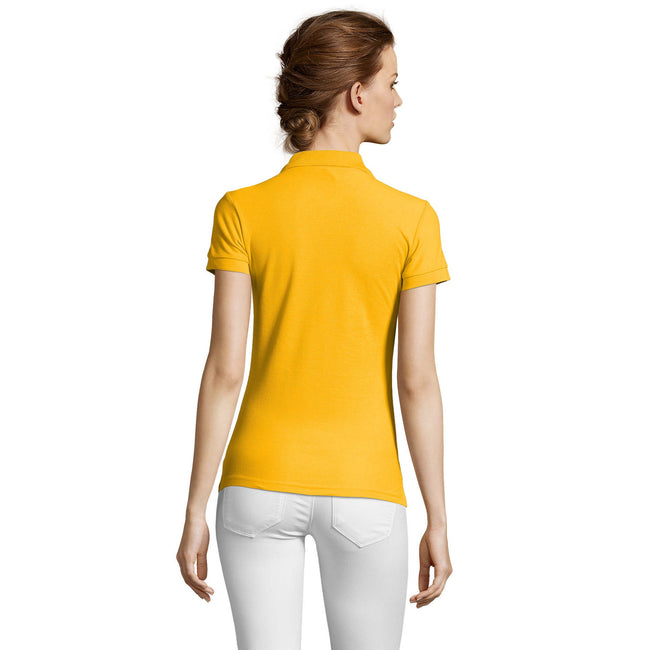 Sand - Front - SOLS People Damen Polo-Shirt, Kurzarm