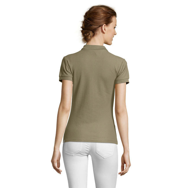Grau meliert - Front - SOLS People Damen Polo-Shirt, Kurzarm
