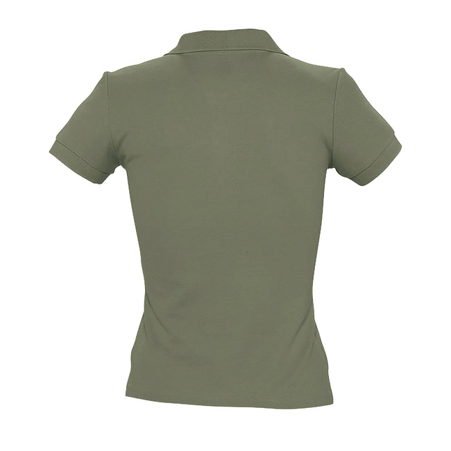 Grau meliert - Back - SOLS People Damen Polo-Shirt, Kurzarm