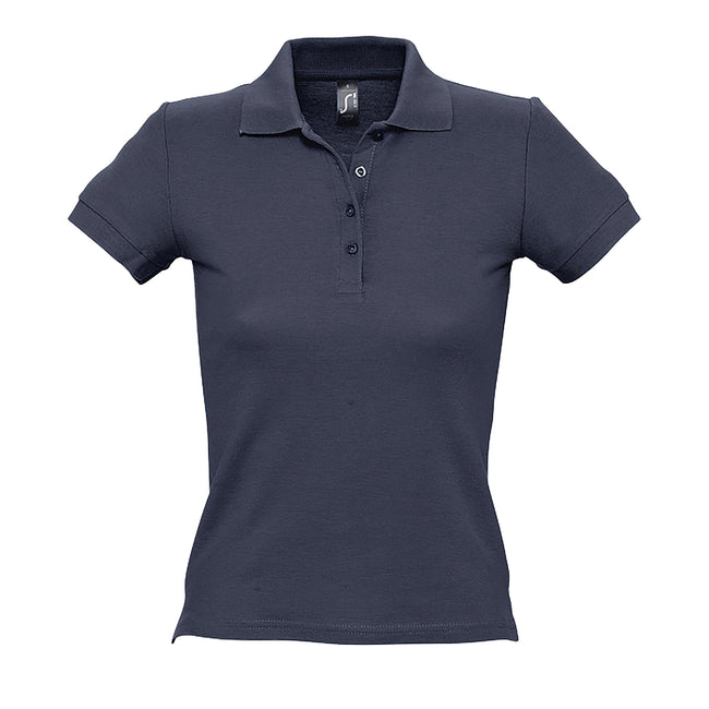 Gold - Front - SOLS People Damen Polo-Shirt, Kurzarm