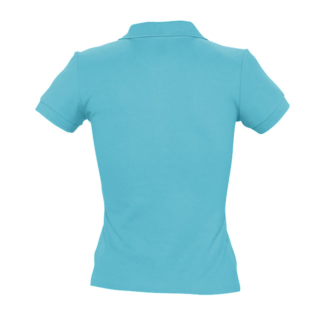 Hellrosa - Back - SOLS People Damen Polo-Shirt, Kurzarm