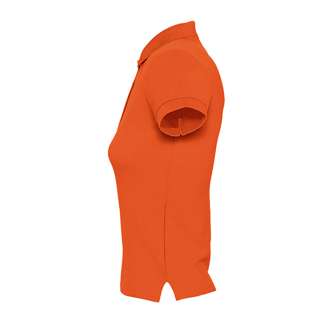 Orange - Side - SOLS People Damen Polo-Shirt, Kurzarm