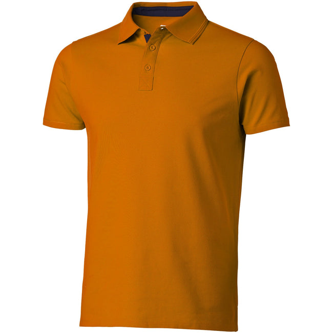 Orange-Navy - Front - Slazenger Herren Hacker Kurzarm Polo