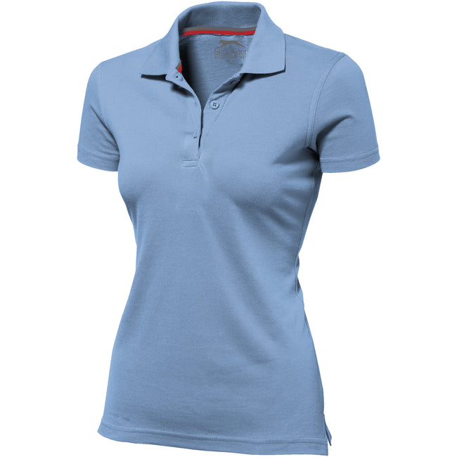 Rot - Back - Slazenger Advantage Kurzarm Damen Polo