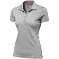 Marineblau - Back - Slazenger Advantage Kurzarm Damen Polo