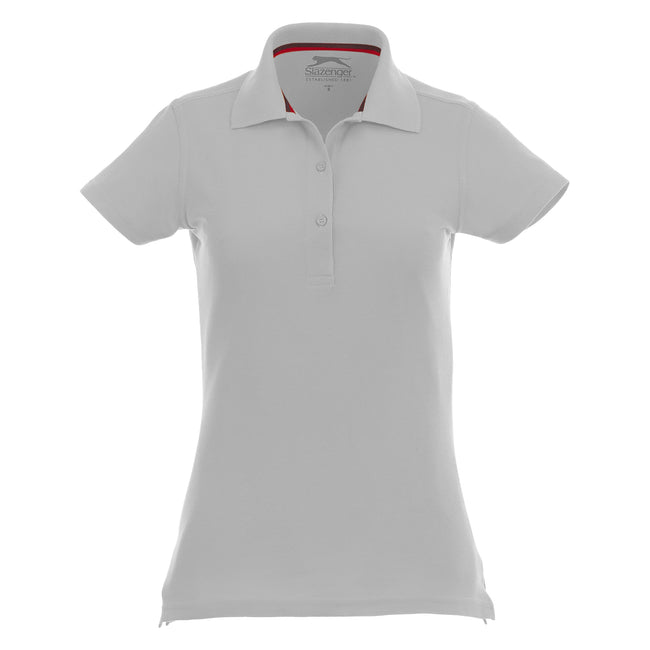 Hellblau - Back - Slazenger Advantage Kurzarm Damen Polo