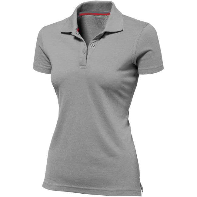 Hellblau - Side - Slazenger Advantage Kurzarm Damen Polo