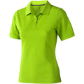 Khaki - Back - Elevate Calgary Kurzarm Damen Polo