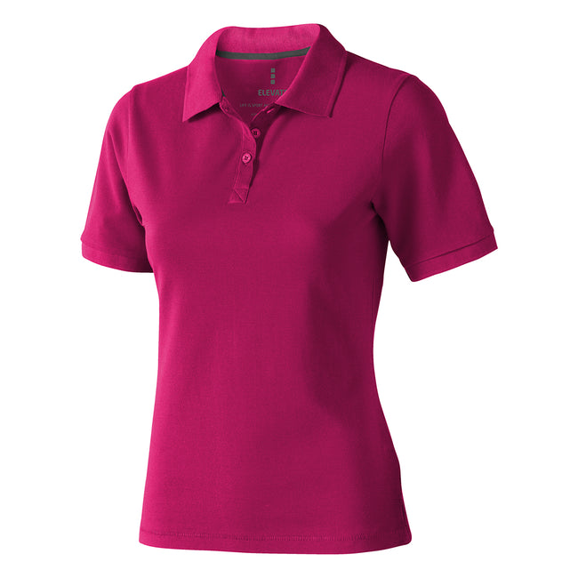 Marineblau - Back - Elevate Calgary Kurzarm Damen Polo