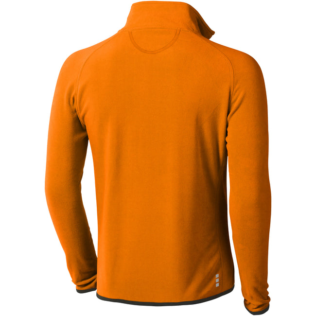 Orange - Back - Elevate Herren Microfleece-Jacke Brossard