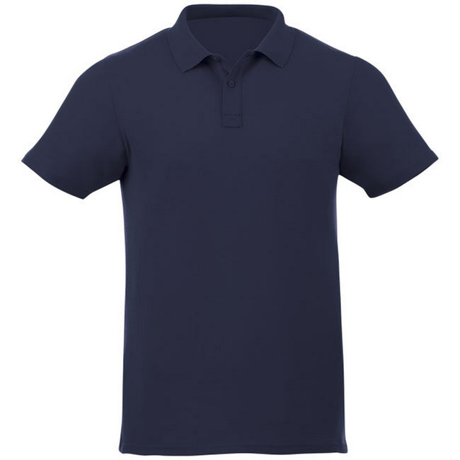 Marineblau - Front - Elevate Liberty Herren Kurzarm Polo Shirt