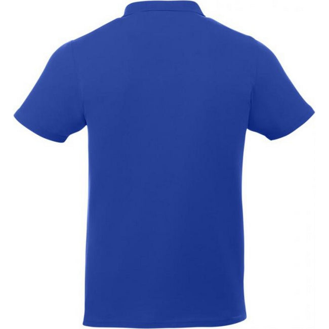 Blau - Back - Elevate Liberty Herren Kurzarm Polo Shirt