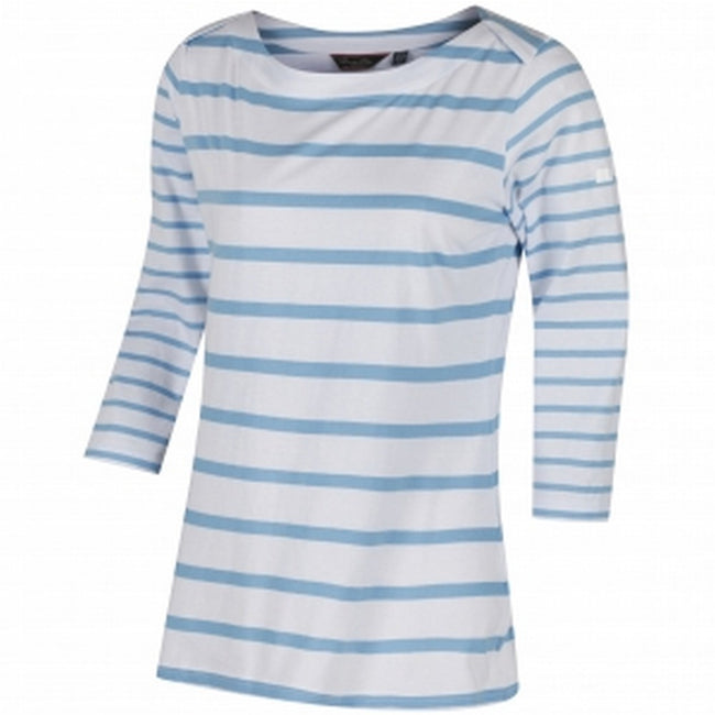 Weiß-Hellblau - Front - Regatta Great Outdoors Damen Parris T-Shirt