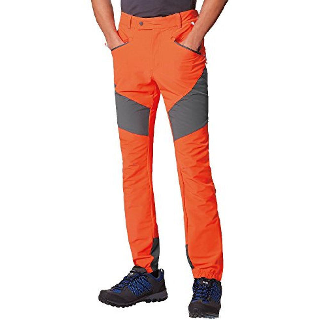 Grau-Orange - Side - Regatta Great Outdoors Herren Stretch-Wanderhose