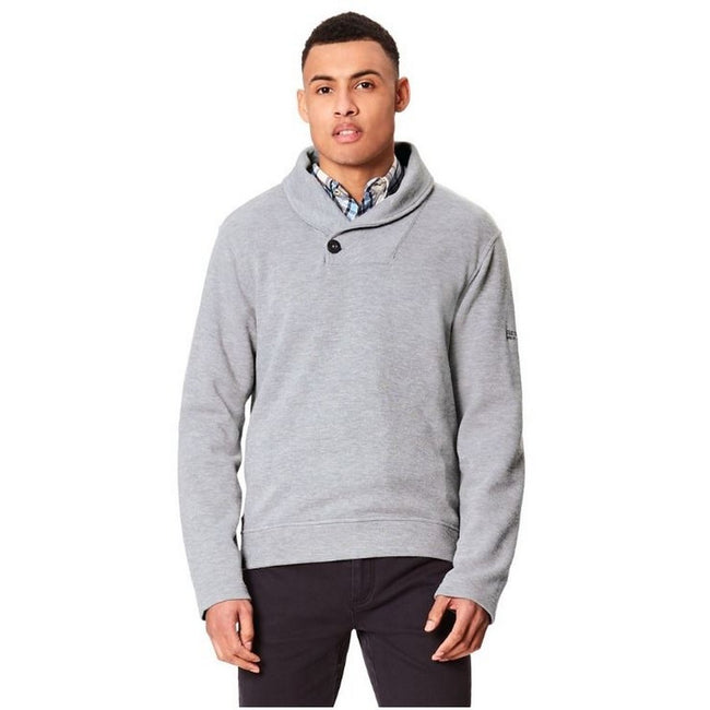 Steingrau - Front - Regatta Great Outdoors Herren Fleecepullover Travon mit breitem Kragen