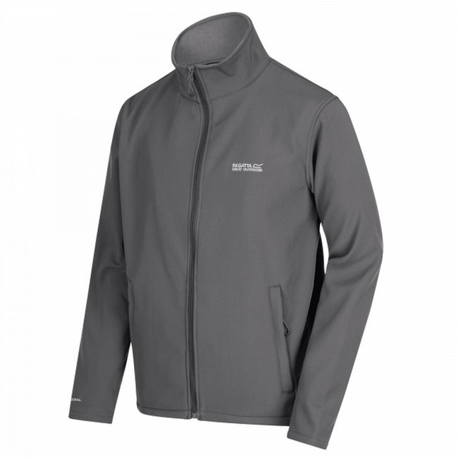 Dunkelgrau-Dunkelgrau - Front - Regatta Great Outdoors Herren Cera III Softshell-Jacke