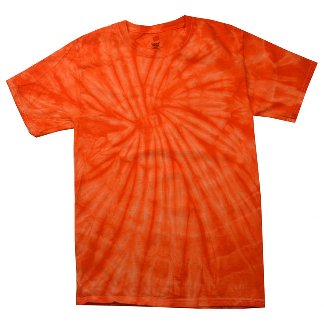 Spider Orange - Front - Colortone Unisex Tonal Spider T-Shirt